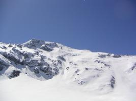 Vue sur l'aiguille rouge ski Aux Arcs